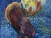 Mélanie brochet, empreinte, sur-bois, 65x50cm, 2001