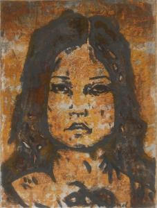 Mélanie Brochet, petite fille japonaise, 40 x 30 cm,2013