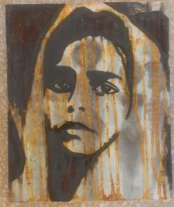 Mélanie Brochet,  Petite Fille Indienne, 46 x 38 cm,2013
