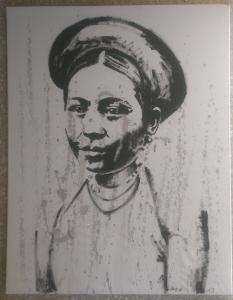 Mélanie Brochet, Femme Birmane, 90 x 70 cm,2013