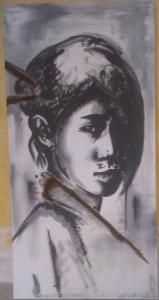 Mélanie Brochet, jeune femme japonaise, 50 x 100 cm,2013