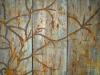 Melanie brochet,  triptyque ligne, toile sur chassis, 100x75 cm, 2012
