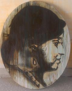 Mélanie Brochet, femme tzigane, 50 x 40 cm,2013