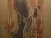 Melanie brochet, femme nu, toile sur chassis, 25x75cm,2012